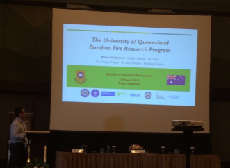 Mateo Gutierrez's presentation on the fire research done at UQ by the Bamboo Team