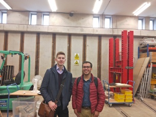 Ian and Mateo at the Structures Lab in The University of Bath